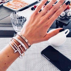 Gift Set: Simple Nail Screw Cuff Bracelet Bangle